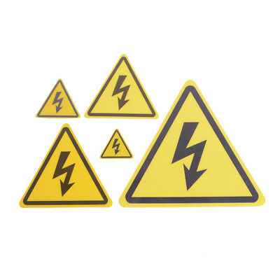 2X Danger High Voltage Electric Warning Safety Label Sign Decal Sticker UK