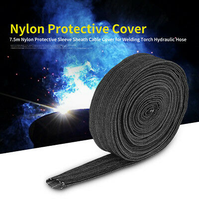 7.5m Nylon Protect Sleeve Sheath Cable Cover for Welding Torch Hydraulic Hose oe