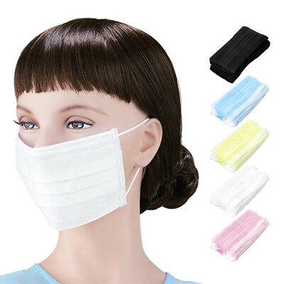 50x Disposable Surgical Face Salon Dust Ear Loop Medical Mouth Flu Mask Hot