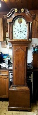 A Georgian Oak Antique Longcase Tallcase Grandfather Clock C1790