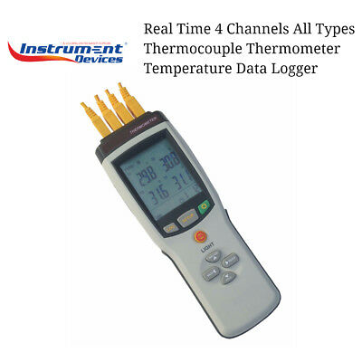 Real Time 4 Channels All Types Thermocouple Thermometer Temperature Data Logger