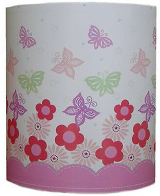 Butterfly and Flowers Ceiling Shade