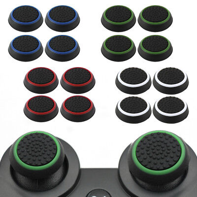 4X Rubber Thumb Stick Cover Grip Caps PS3 PS4 XBOX One 360 Analog Controller UK