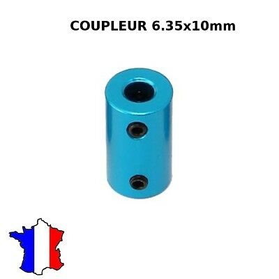 coupleur rigide 6.35x10mm en metal 6.35*10 shaft coupler tige rigide