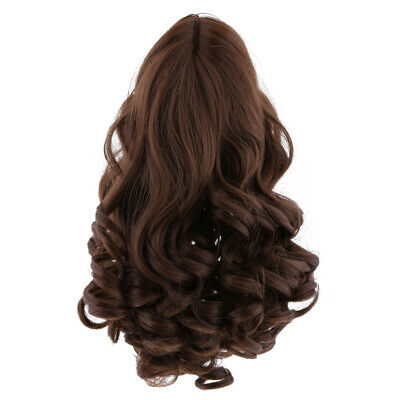 """Fantasy Curly/Straight Hair Wig for 18"""" American Girl Doll DIY Making Accessory"""