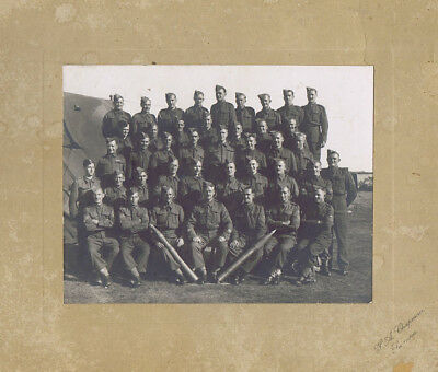 Royal Artillery Soldiers - Vintage Photograph c1930s by Chapman of Swansea