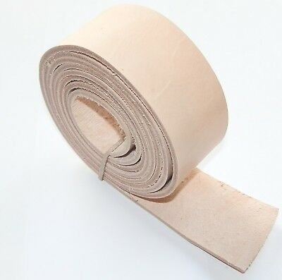 3.8MM - 4MM THICK NATURAL VEG TAN LEATHER BELT STRAPS BLANKS 125cm - 49 INCH