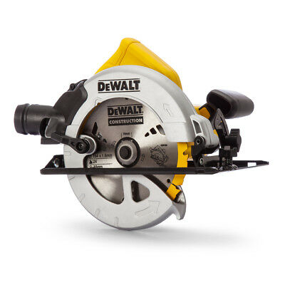 Dewalt DWE560K Compact Circular Saw 184mm in Kitbox (65mm DOC) 110V