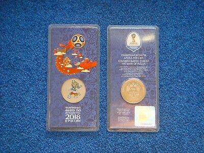 Russia, 25 rubles, 2017, 2018 FIFA World Cup, Talisman Wolf, UNC, Colored, New