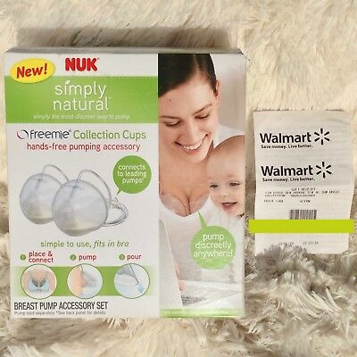 NUK Simply Natural Freemie Collection Cups Cup Breast Pump Accessory Set RECEIPT