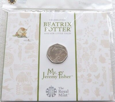 2017 Royal Mint Beatrix Potter Mr Jeremy Fisher 50p Fifty Pence Coin Pack