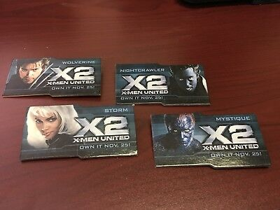 X-2 X-men United DVD Promotional Pins Set Of 4