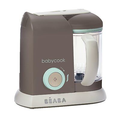 BEABA Babycook PRO 4-in-1 Steam Cooker Blender in Latte Mint ~NEW W/ DAMAGED BOX