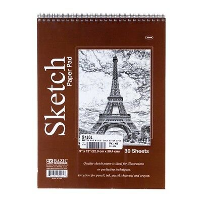 "Top Bound Spiral Premium Sketch Pad - 9"" x 12"" - 30 Sheets"