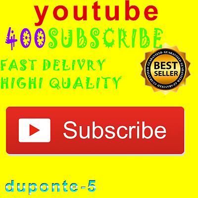 400 Youtube-Subscribers | LIMITED STOCK | High Quality - Stable