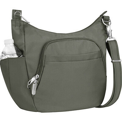 Travelon Anti-Theft Classic Crossbody Bucket Bag Cross-Body Bag NEW