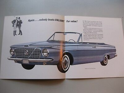 Chrysler Valiant brochure Prospekt English text 1963 12 pages Canada