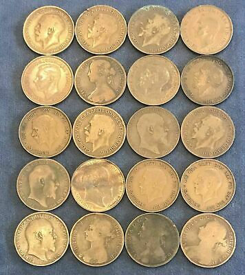 Lot of (20) UK One Penny - Free Shipping USA