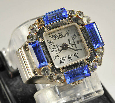 Vintage Digits Finger Watch (NEW, old-stock from Macy's) Cobalt Stones