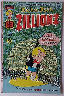 RICHIE RICH Zillionz No. 1 #1 Comic Book VG Condition 1976 Bad News Bears Ad