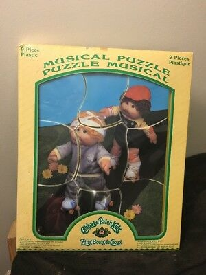 VTG Cabbage Patch Kids Doll Musical Plastic Puzzle 1985 original Packaging 9 PC