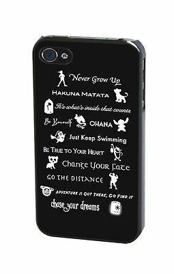 Walt Disney Lessons Life Quotes Peter Pan Lilo And Stitch Phone Case