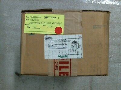 FACTORY SEALED Schneider S33575 Neutral Current Transformer - 60 day warranty