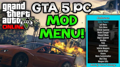 GTA V ONLINE 1 43 3 Undtected Mod Menus With Antiban For Social Club /  Steam Pc