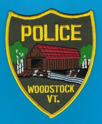 Woodstock Police Department Patch ~ Vermont ~ Covered Bridge ~ Beautiful Design