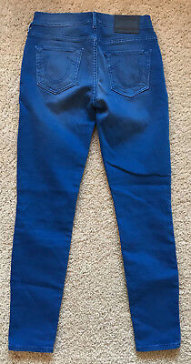 True Religion Womens Halle Mid Rise Super Skinny Size 27 USA