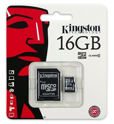 Kingston Micro SD 16GB Class 4 SDHC Memory Card Microsd TF Mobile Phone Camera