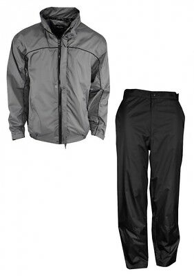 (XX-Large, Charcoal Gray) - New Ray Cook Golf Waterproof C-Tech Rainsuit Black
