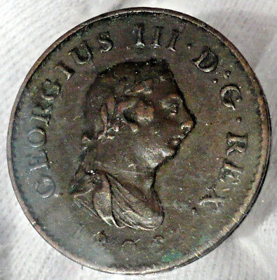 Great Britain Farthing (1/4 penny), 1806, King George III, KM#661, S-3782