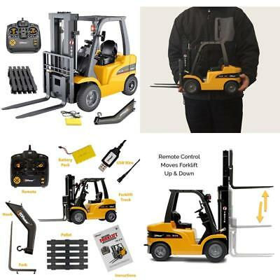 Rc Forklift 13'' Tall 8 Channel Full Functional Pro Construction Toys 1:10 Scale