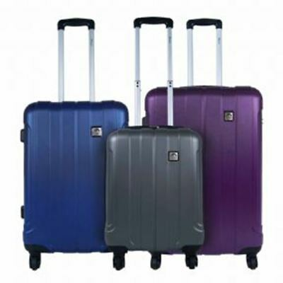 3 Piece ABS Luggage Set Travel Bags Lightweight Suitcases Hold Baggage Trolley