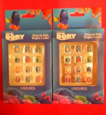 Disney Pixar Finding Dory 12 pc. Girls Press On Nails Lot of 2 Packs New in Box