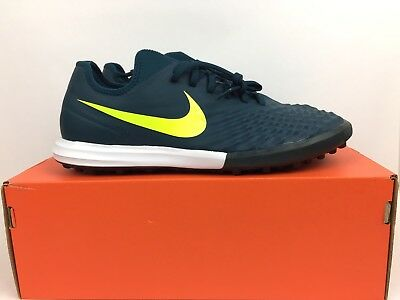 Nike Magistax Finale II TF Size 9.5 Soccer Shoes Mens Turquoise Blue