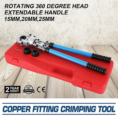 """Copper Tube Fitting Crimping Tool W/1/2"""",3/4"""",1"""" Jaw  Copper Connection Propress"""