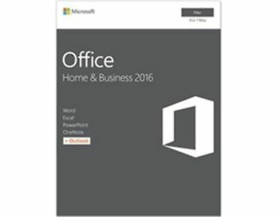 MIcrosoft Office MAC - Home & Business 2016 - Medialess Box