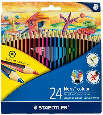 24 PACK Coloured Pencils Coloring Drawing Kids Childrens Fun Art Supplies Craft