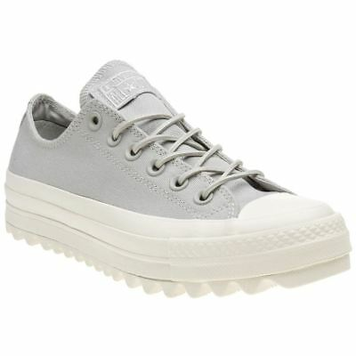 fdc8ddef9 Converse Chuck Taylor All Star Lift Ripple Ox Pale Grey Womens Canvas  Trainers