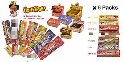 7 Packs mix 7 Flavors HONEYPUFF 1 1/4- Flavored Rolling Papers Slow Burning