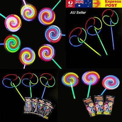 1/10/30X Helicopter Windmill Lollipop Wand LED GlowSticks Spinning  Light Party