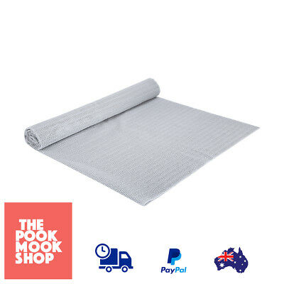 Non Slip Underlay Rug Safety Gripper Mat Cushion Skid Indoor (Grey) Cut Protects
