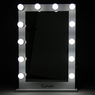 Make Up Mirror Makeup Vanity Beauty LED Light Lamp Free Standing Tabletop White