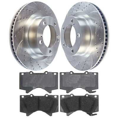 New Front Left and Right Silver Performance Rotors with Ceramic Pads