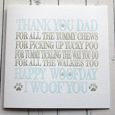 Birthday card to dad from the dog happy birthday dad from the dog birthday card to dad from the dog happy birthday dad from the dog handmade card bookmarktalkfo Image collections