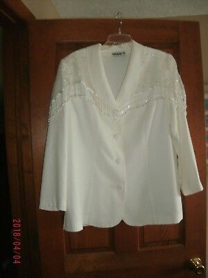 Mother of the Bride Western Style Suit.  Women's size XL off white with beads