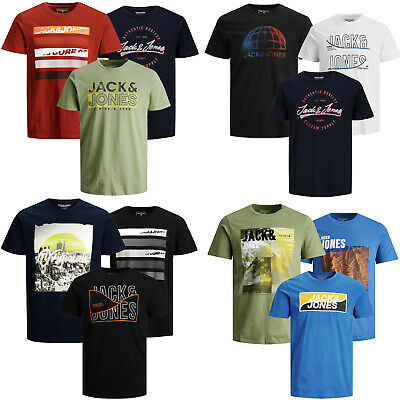 Jack Jones T-Shirt Herren ** 3er Pack ** Tee Shirt Party Rundhals  S-XXL Neu