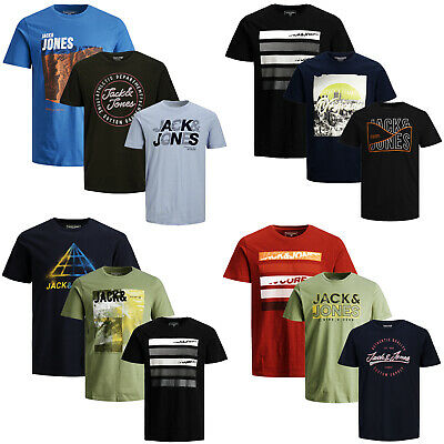 Jack Jones T-Shirt Herren ** 3er Pack ** Rundhals Shirt Party Tee S,M,L,XL,XXL
